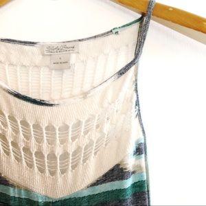 Lucky Brand Southwestern Knit sleeveless Maci